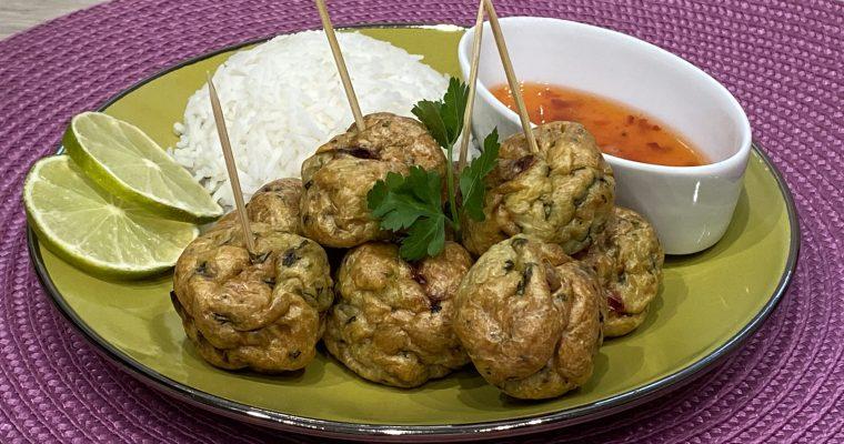Thailändische Geflügel-Bällchen im Ofen gebacken