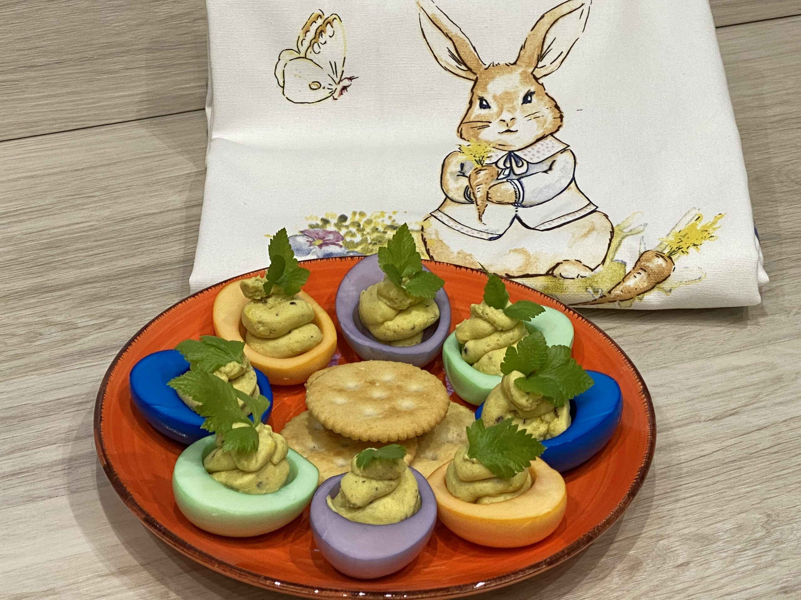Gefüllte bunte Eier – Colored Deviled Eggs