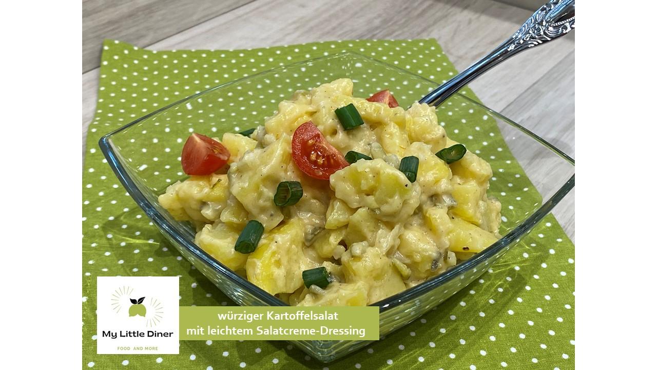 würziger Kartoffelsalat mit leichtem Salatcreme-Dressing