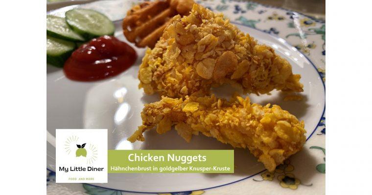 Chicken Nuggets – Hähnchenbrust in goldgelber Knusper-Kruste aus dem Ofen